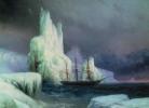 Հ.Այվազովսկի, Անտարկտիկայի սառցե լեռները, 1870թ.