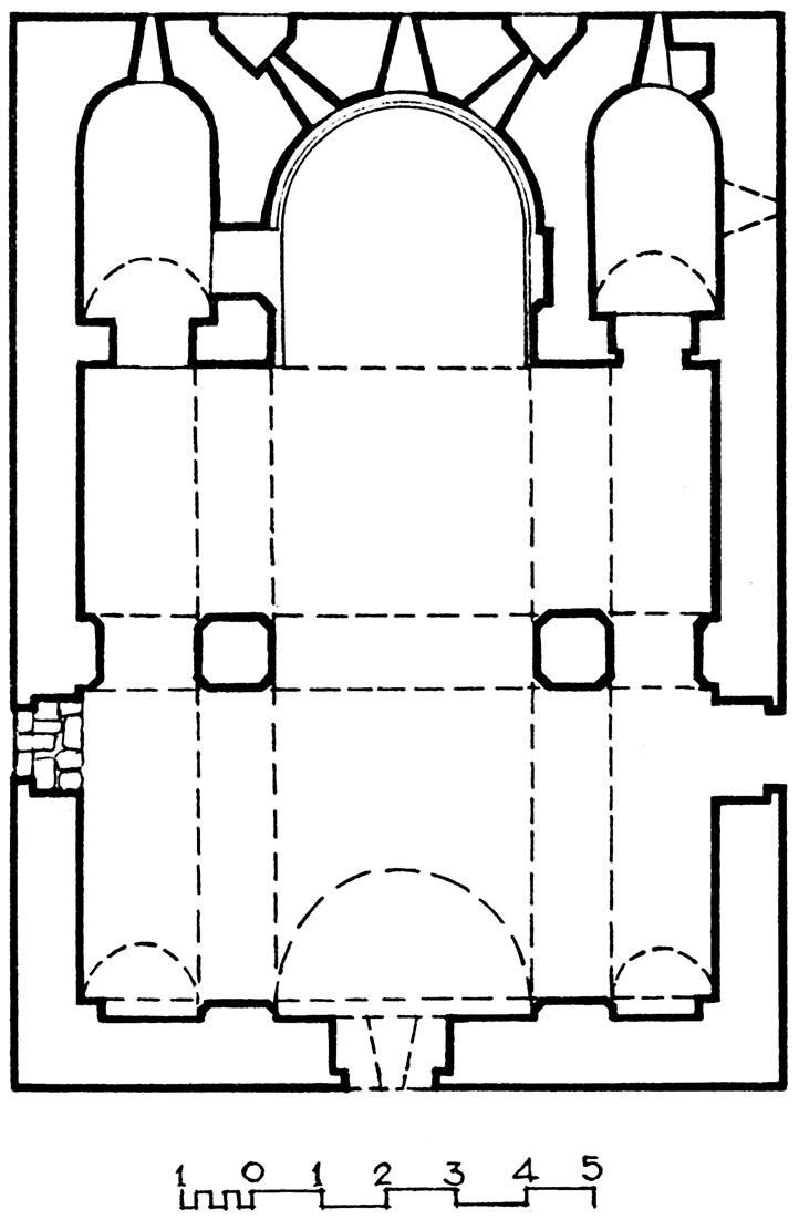 Աքորիի Բգավոր եկեղեցու հատակագիծը