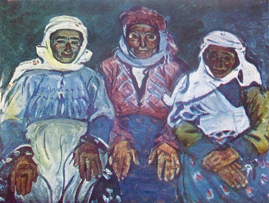 Լավինիա Բաժբեուկ-Մելիքյան,  Քուչակ գյուղի ծեր կանայք, 1960
