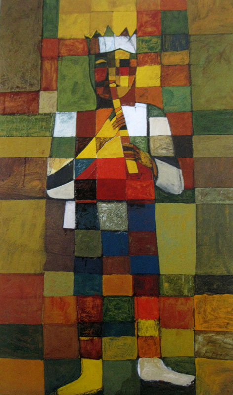 Աշոտ Հովհաննիսյան, Հինավուրց երգ, 1973-1975,  կտավ,յուղաներկ, 120x70սմ