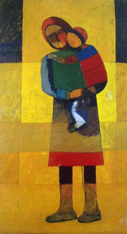 Աշոտ Հովհաննիսյան, Մայրություն, 1970-1975,  կտավ,յուղաներկ, 130x72սմ