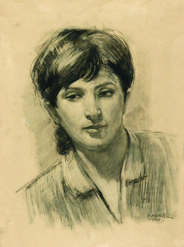 Էդուարդ Իսաբեկյան, Արփենիկ Նալբանդյան,  1949, մատիտ, թուղթ