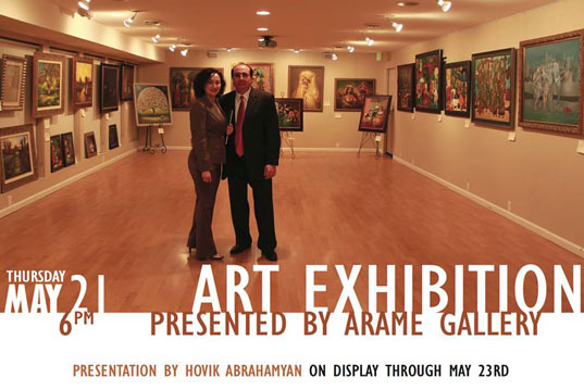 May 21, 2015 Art Exhibition in Armenian museum of Fresno