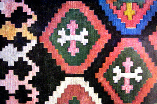 The ornaments of Armenian carpets and national costume