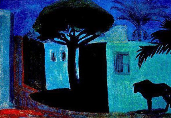 Martiros-Saryan-Gisher-Kahireum-1911
