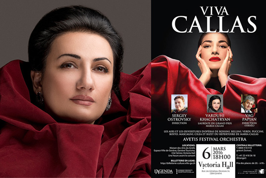 «Avetis» Association is presenting «Viva Callas» Concert Series in Genève