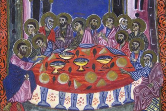 """The Last Supper"", ""Communion""  and ""Foot washing""  scenes iconography in Armenian art"