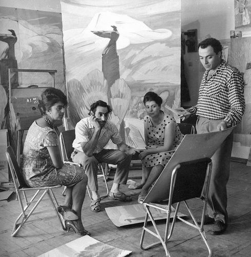 Լավինիա Բաժբեուկ-Մելիքյան, Մինաս Ավետիսյան, Արփենիկ Ղափանցյան, Հենրիկ Սիրավյան, 1962