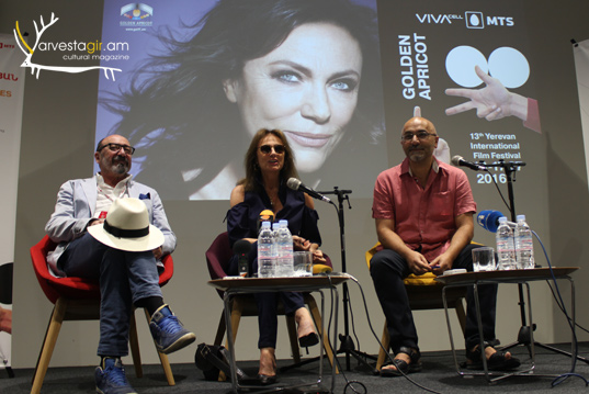 "The opening of  the ""Golden Apricot"" film festival and Jacqueline Bisete in Yerevan"