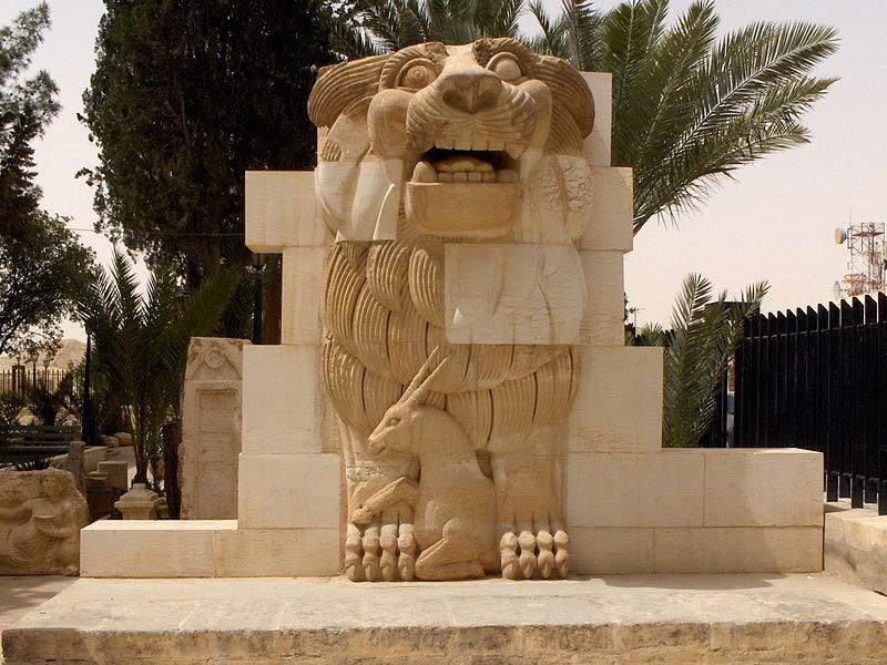 Պալմիրայի-Ալլատ-առյուծ-արձանը