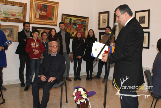 "Art critic Poghos Haytayan was awarded with a medal ""Nerses Shnorhali"""