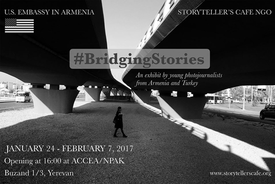 «Bridging stories» photo exhibition on the 24th of January