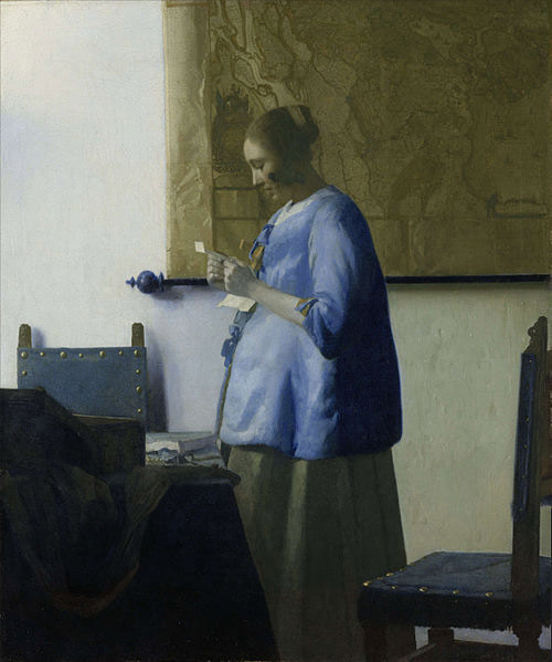 Vermeer-Johannes-Woman-reading-a-letter-ca-1662-1663